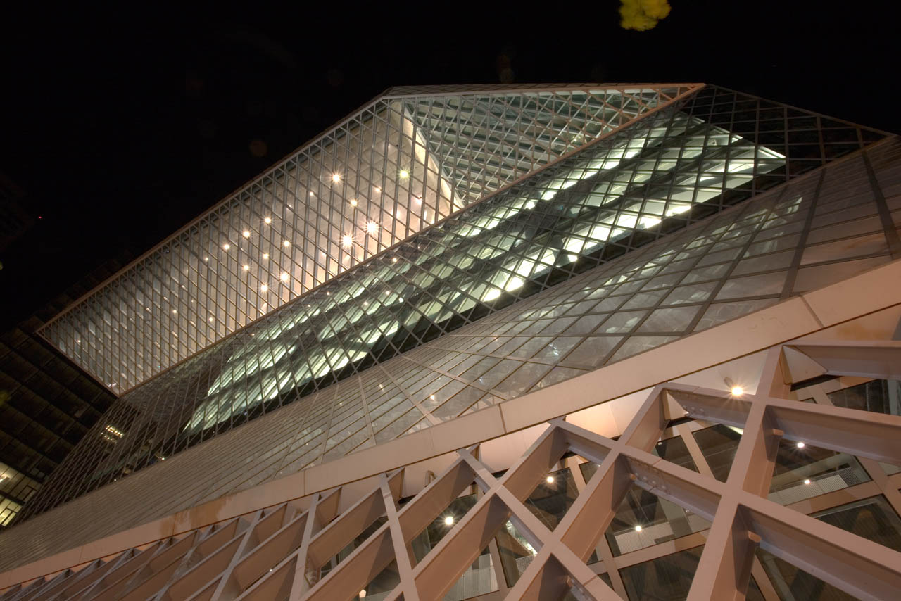 Night at the Seattle Public Library